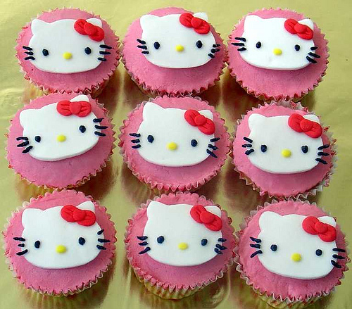Hello kitty cupcakes photos